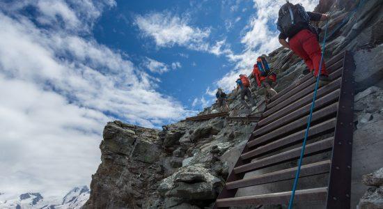 Zermatt and the foot of the Matterhorn