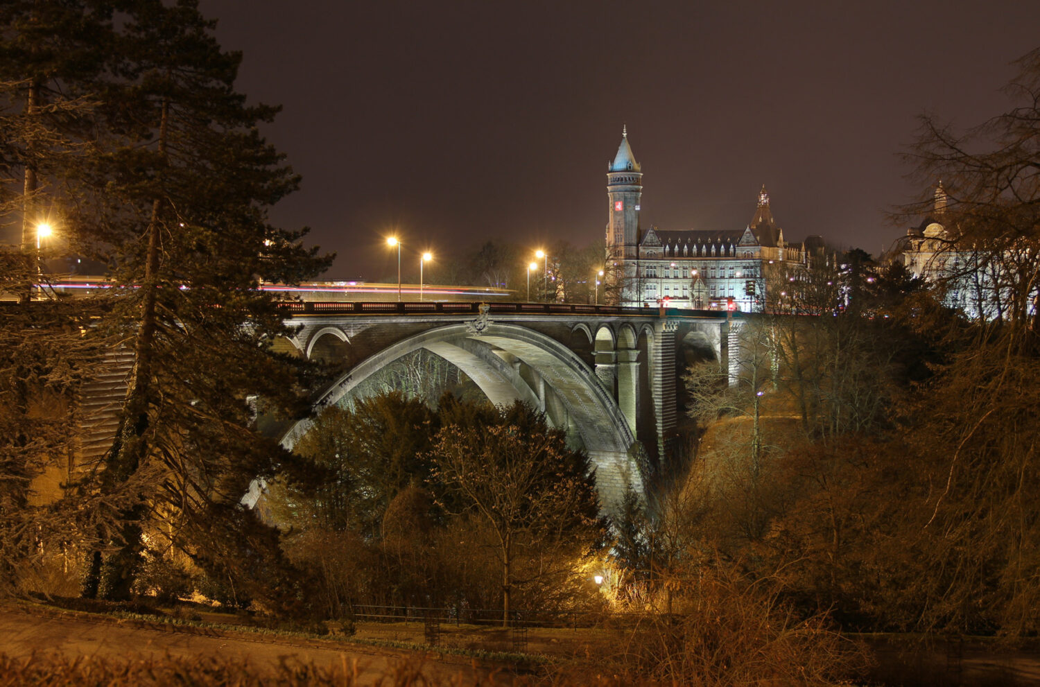 Pont Adolphe (Luxembourg-city) by night